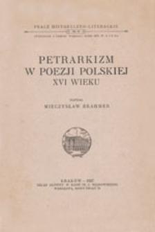 Petrarkizm w poezji polskiej XVI wieku