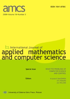 International Journal of Applied Mathematics and Computer Science (AMCS) 2008 Volume 18 Number 3