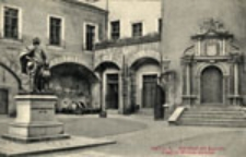 Kostrzyn Stare Miasto / Cüstrin - A.; Schloßhof mit Kurprinz Friedrich-Wilhelm-Denkmal