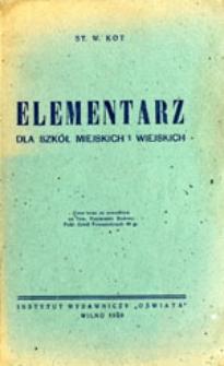 Elementarz dla szkół miejskich i wiejskich