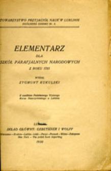 Elementarz dla szkół parafjalnych narodowych z roku 1785