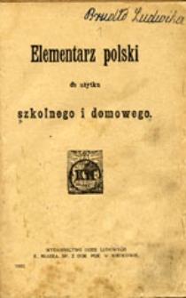 Elementarz polski do użytku szkolnego i domowego