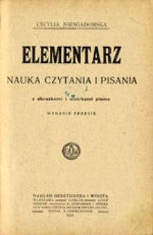 Elementarz: nauka czytania i pisania z obrazkami i wzorkami pisma