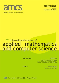 International Journal of Applied Mathematics and Computer Science (AMCS) 2008, volume 18, number 4