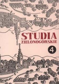 Studia Zielonogórskie: tom IV