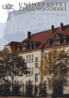 Uniwersytet Zielonogórski, 2008, nr 8 (listopad)