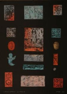"""""""Notacje symboliczne"""", eprevue d' artiste II/VI"""