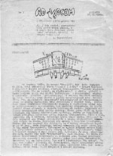 """Ad Vocem: pismo Ruchu """"Wolność i Pokój"""", nr 3 (22.12.1987)"""