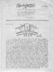 """Ad Vocem: pismo Ruchu """"Wolność i Pokój"""", nr 4 (24.I.1988 r.)"""
