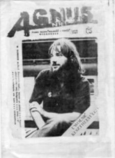 "Agnus: pismo Ruchu ""Wolność i Pokój"", nr 1 (lato 1987)"