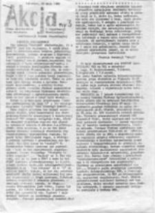 Akcja: pismo Akademickich Grup Działania i Organizacji Młodzieżowych Konfederacji Polski Niepodległej, nr 3 (28 maja 1988)