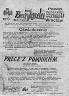 Barykada: pismo Federacji Młodzieży Walczącej, nr 9 (28.01.1990)