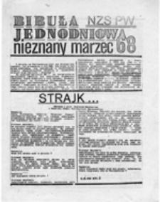Bibuła jednodniowa NZS PW: nieznany marzec 68, b.nr.