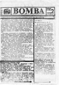 BOMBA: Nieregularnik Międzyszkolnego Komitetu Oporu FMW Reg. Łódzkiego, nr 2 (luty 1989)