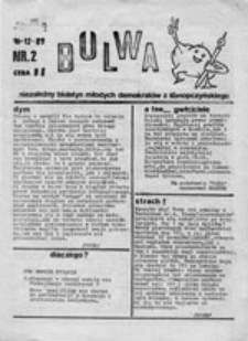 Bulwa: niezależny biuletyn młodych demokratów z Konopczyńskiego, nr 2 (16-12-89)