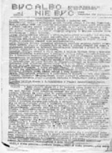 Być albo nie być: niezależne pismo III LO im. Adama Mickiewicza, nr 1 (1 IX 1986)