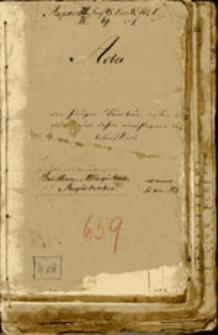 Deklarations=Register pro 1834 für den Weinsteuer Bezirk Beuthen an der Oder