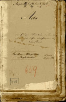 [Deklarations=Register pro 1837 für den Weinsteuer Bezirk Beuthen an der Oder]