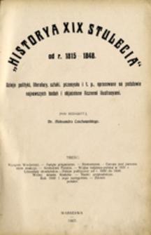 """""""Historya XIX stulecia"""": od r. 1848-1871 i od r. 1871-1900"""