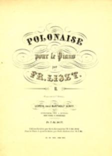 Polonaise II: pour le piano par Fr. Liszt