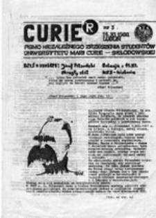 CURIER: pismo NZS UMCS, nr 2 (listopad 1988)