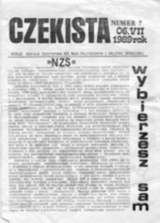 """CZEKISTA: pismo """"Niezależnego Zrzeszenia Studentów"""", nr 1 (listopad 1988)"""