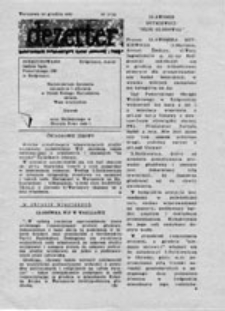 """Dezerter: dwutygodnik informacyjny Ruchu """"Wolność i Pokój"""", nr 6 (6 XII 1987)"""