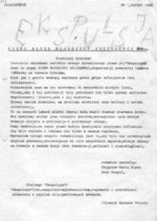 EKSPULSJA: Pismo Klubu Młodzieży Solidarnej ROW-u, nr 1 (marzec 1988)