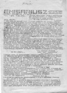 Emisariusz: biuletyn informacyjny VIII LO Gdańsk, nr 11 (16.06.1985)