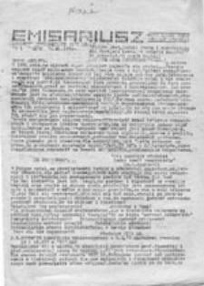 Emisariusz: biuletyn informacyjny VIII LO Gdańsk, nr 12/13 (lipiec-sierpień 1985)