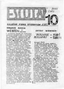 Eskulap: pismo środowiskowe NZS A[kademii] M[edycznej] G[dańsk], nr 10 (luty 1990)