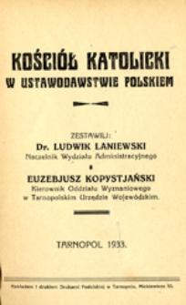 Kościół Katolicki w ustawodawstwie polskiem