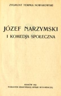 Józef Narzymski i komedja społeczna
