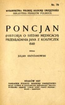 Poncjan: (historja o siedmi mędrcach), 1540