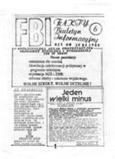 """FBI: """"Fakty"""" Biuletyn Informacyjny, nr 1 (13.03.1989)"""