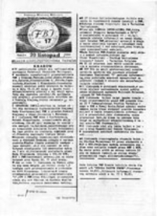 FBI: Federacyjny Biuletyn Informacyjny, nr 17 (20 listopad 1989)