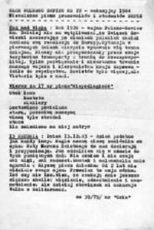 Głos Wolnego SGPiS-u: niezależne pismo pracowników i studentów SGPiS, nr 22 (wakacyjny 1984)