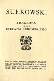 Sułkowski: tragedya