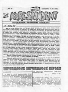 KORESPONDENT: informator młodzieżowy, nr 12 (10 listopada 1989)