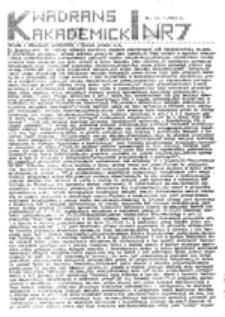 Kwadrans akademicki, nr 7 (23.01.1983 r.)