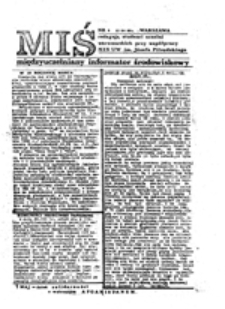 Miś: międzyuczelniany informator środowiskowy, nr 43 (01.06.1988)