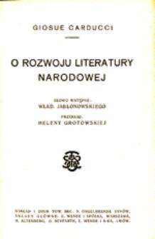 O rozwoju literatury narodowej
