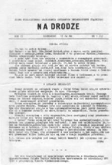 Na drodze: pismo Niezależnego Zrzeszenia Studentów, nr1 (15 X 87)