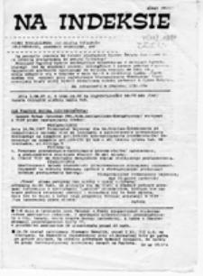 Na indeksie: pismo członków i sympatyków NZS, nr 1 (5 - 18.01.1987 r.)