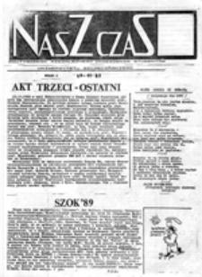 Nasz czas: dwutygodnik Niezależnego Zrzeszenia Studentów Uniwersytetu Szczecińskiego , nr 2 (27.11.89)