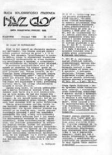 Nasz głos: pismo młodzieży szkolnej Białegostoku: organ Młodzieżowego Komitetu Obrony Społecznej, nr 21 (27 02 83)