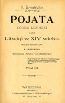 Pojata córka Lezdejki albo Litwini w XIV wieku: romans historyczny, T. 3