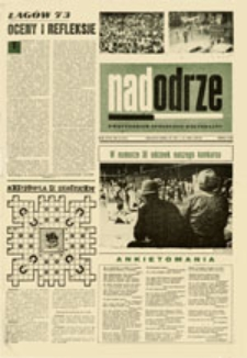 Nadodrze: dwutygodnik społeczno-kulturalny, nr 15 (29.VII. - 11.VIII. 1973)