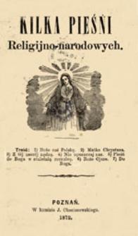 Kilka pieśni religijno-narodowych