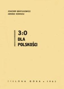 3:0 dla polskości: z dziejów sportu na Ziemi Lubuskiej